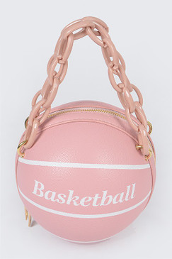 Chain Basketball Bag Pink