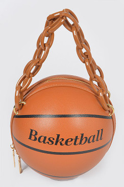 Chain Basketball Bag Brown