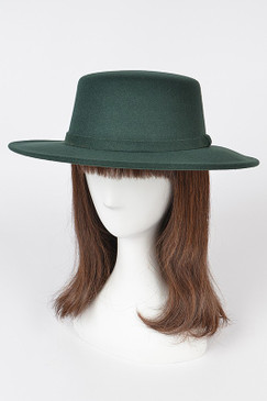 Fashion Fedora Hat Dk Green