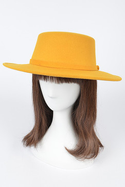 Fashion Fedora Hat Mustard