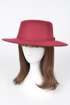 Fashion Fedora Hat Wine