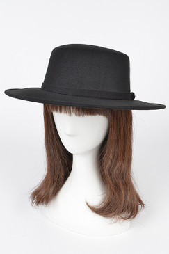 Fashion Fedora Hat Black