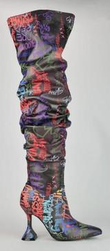 Graffiti Boots Black Multi