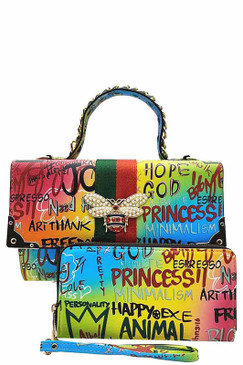 Queen Bee Graffiti Bag Multi