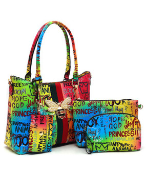 4 in 1 Graffiti Bag Multi