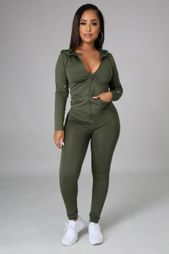 Ola Seamless Set Olive