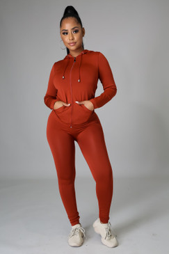 Ola Seamless Set Rust