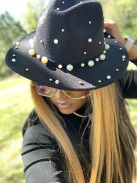 Pearl Fedora Black