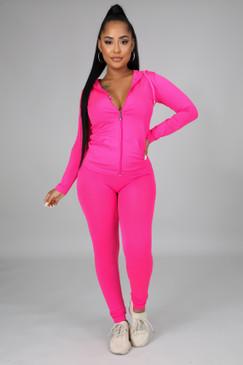 Ola Seamless Set Neon Pink