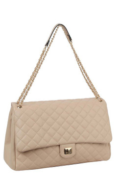 Lizzy Jumbo Quilt Bag Taupe
