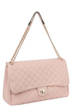 Lizzy Jumbo Quilt Bag Blush