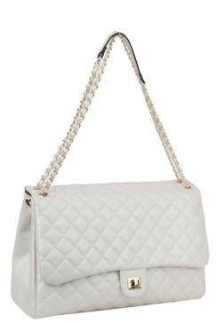 Lizzy Jumbo Quilt Bag Pearl