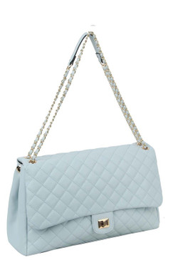 Lizzy Jumbo Quilt Bag Blue