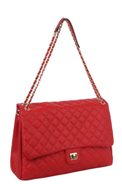 Lizzy Jumbo Quilt Bag Red
