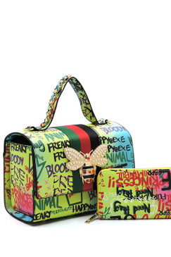 Queen Graffiti Bag Grn