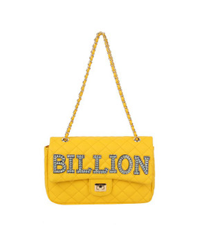 Quilted Billion Purse Yellow