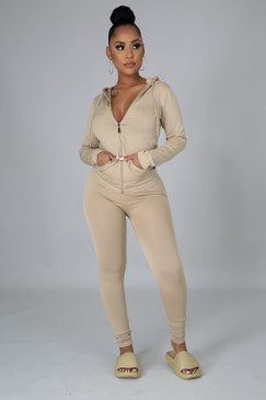 Ola Seamless Set Beige