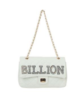 Quilted Billion Purse White