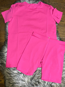 2 Pcs Love Me Set Fuchsia
