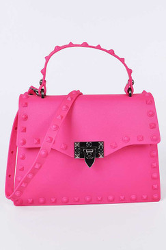 Kelly Jelly Purse Neon Pink
