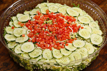 Order a salad as a side or your main dish! Your choice of 3 delicious salads:  Greek Salad filled with Romaine lettuce and mixed with chopped tomato, cucumber, Kalamata olives, feta cheese, and our homemade Greek dressing.  Caesar Salad with Romaine lettuce, shaved Parmesan and a sprinkle of red peppercorns.  YT House Salad with shredded mozzarella and mixed greens.