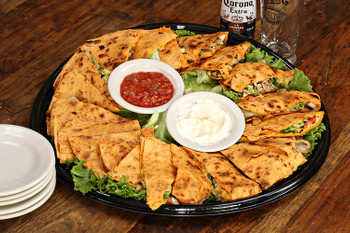 """If it's too difficult to decide between veggie or chicken quesadillas, why not order both? Guests at your party or event will say """"muy bueno"""" after tasting YT quesadillas!"""