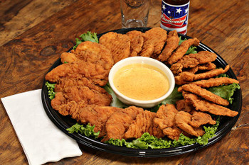 Kids and adults of all ages love chicken fingers! Perfect for a family event or sports party! Meaty fried chicken tenders served with your choice of BBQ, Ranch, Tango, Gorgonzola, Buffalo, or Honey Mustard sauce.