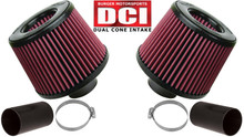BMS N54 Dual Cone Intakes DCI - Red Filter