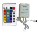 LED Controller 24 Button IR Remote 3 Channel RGB