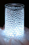 White Super Bright Vase LED Lights with Remote and Beads