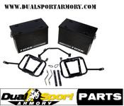 Tusk Aluminum Panniers  w/Pannier Racks Large Black, KLR650 ,87-07