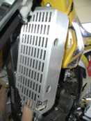 DRZ400S Aluminum Radiator Guard All years KLX 400-Flatland
