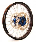 "KTM Wheel Set 18"" 21"" black rim, Blue hub,includes rotors and sprocket"