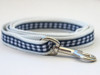 Lifes a Picnic dog leash in blue gingham - by www.diva-dog.com