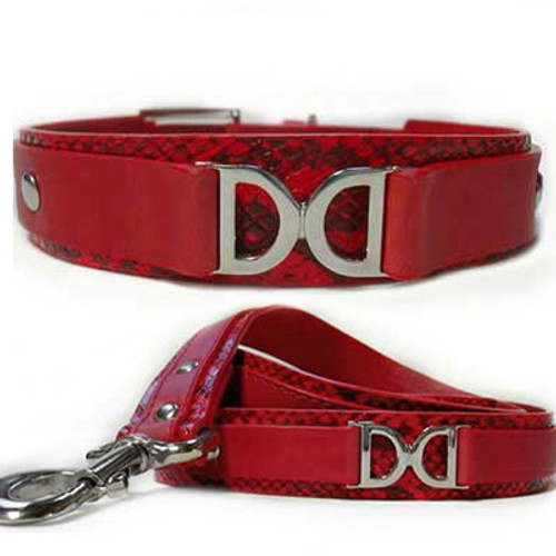 Double D Leather Collar and Leash