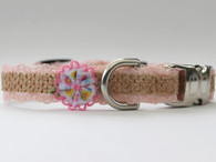 Bailey Pink Collar - by Diva-Dog.com side view