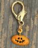 Funky Pumpkin dog collar charm - by Diva-Dog.com