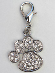 Clear crystal paw charm from diva-dog.com