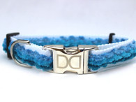 Cabo Collection Pacific Blue Dog Collar - by Diva-Dog.com