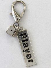 Player Collar Charm - by Diva-Dog.com