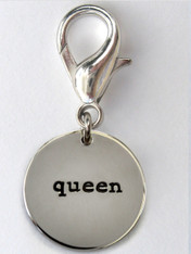 Queen disc collar Charm - by Diva-Dog.com
