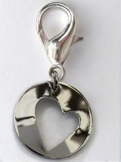 Asymmetric heart collar Charm - by Diva-Dog.com