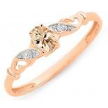 Morganite & Diamond Ring (M2876)