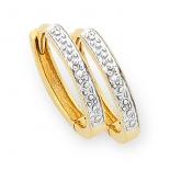 Diamond  Huggies Earrings (M1286)