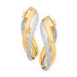Curved Hoop Earrings (14-1812)