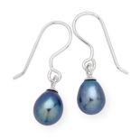 Black Freshwater Pearl Earrings (17-520)