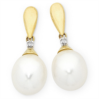 Pearl & Diamond Earrings (M1679)