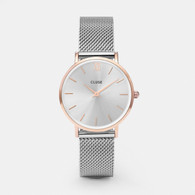Cluse Minuit Rose Gold/Silver Watch (CW0101203004)