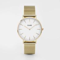 CLUSE La Boheme Mesh Gold/White Watch (CW0101201009)