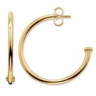 Karma Bead 25mm Hoop Earrings (24-11117)